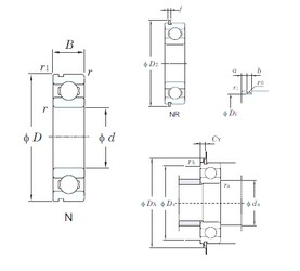 28 mm x 58 mm x 16 mm  KOYO 62/28N deep groove ball bearings