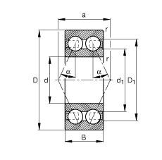 60 mm x 130 mm x 54 mm  FAG 3312-B-TVH angular contact ball bearings