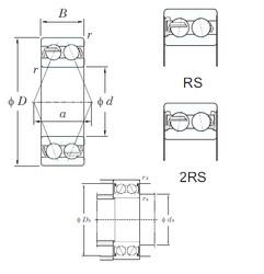 60 mm x 130 mm x 54 mm  KOYO 5312-2RS angular contact ball bearings
