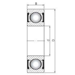 60 mm x 130 mm x 54 mm  ISO 63312 ZZ deep groove ball bearings