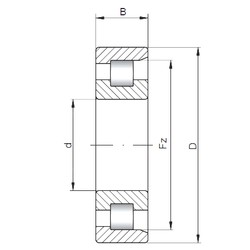 110 mm x 200 mm x 69,8 mm  Loyal NF3222 cylindrical roller bearings