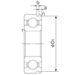 28 mm x 58 mm x 16 mm  NACHI 62/28N deep groove ball bearings