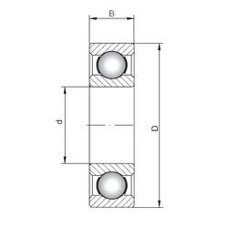 28 mm x 58 mm x 16 mm  Loyal 62/28 deep groove ball bearings
