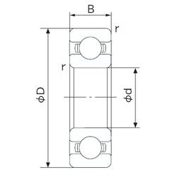 28 mm x 58 mm x 16 mm  NACHI 62/28 deep groove ball bearings