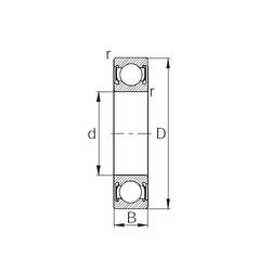 28 mm x 58 mm x 16 mm  KBC 62/28DD deep groove ball bearings