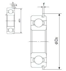 28 mm x 58 mm x 16 mm  NACHI 62/28NR deep groove ball bearings
