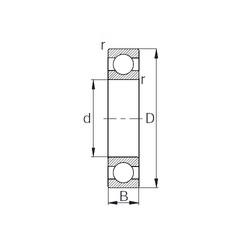 28 mm x 58 mm x 16 mm  KBC 62/28 deep groove ball bearings