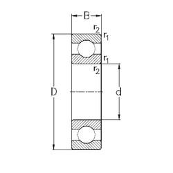 28 mm x 58 mm x 16 mm  NKE 62/28 deep groove ball bearings