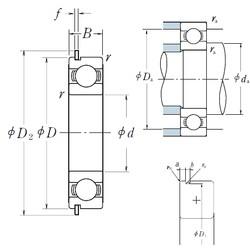 28 mm x 58 mm x 16 mm  NSK 62/28NR deep groove ball bearings