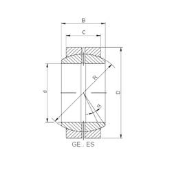 60 mm x 90 mm x 44 mm  Loyal GE 060 ES-2RS plain bearings