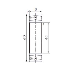 440 mm x 720 mm x 226 mm  NACHI 23188E cylindrical roller bearings