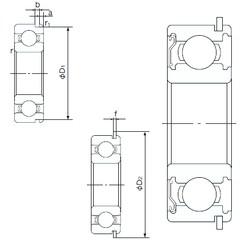 28 mm x 58 mm x 16 mm  NACHI 62/28ZENR deep groove ball bearings