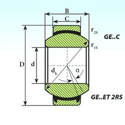 60 mm x 90 mm x 44 mm  ISB GE 60 ET 2RS plain bearings