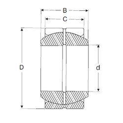60 mm x 90 mm x 44 mm  SIGMA GE 60 ES plain bearings
