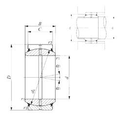 60 mm x 90 mm x 44 mm  IKO GE 60ES-2RS plain bearings