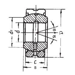 60 mm x 90 mm x 44 mm  FBJ GE60ES-2RS plain bearings