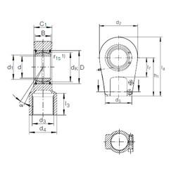60 mm x 90 mm x 44 mm  INA GIHRK 60 DO plain bearings