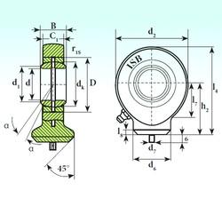 60 mm x 90 mm x 44 mm  ISB T.A.C. 260 plain bearings