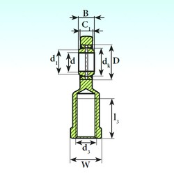 60 mm x 90 mm x 44 mm  ISB SI 60 ES 2RS plain bearings