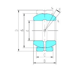 60 mm x 90 mm x 44 mm  LS GE60ES-2RS plain bearings