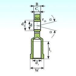 60 mm x 90 mm x 44 mm  ISB SI 60 C 2RS plain bearings