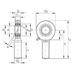 60 mm x 90 mm x 44 mm  INA GAR 60 DO-2RS plain bearings
