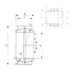 60 mm x 90 mm x 44 mm  IKO GE 60ES plain bearings
