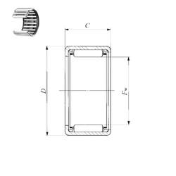 IKO TLA 1612 Z needle roller bearings