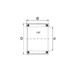 ZEN HK1612 needle roller bearings