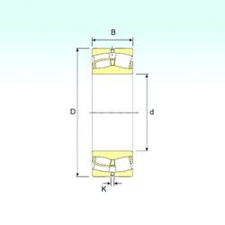 110 mm x 200 mm x 69,8 mm  ISB 23222 spherical roller bearings