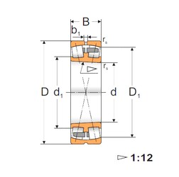 110 mm x 200 mm x 69,8 mm  Loyal 23222 KMBW33 spherical roller bearings