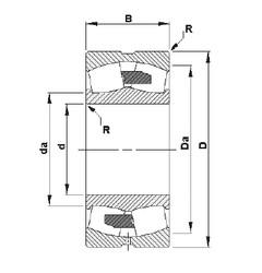 110 mm x 200 mm x 69,8 mm  Timken 23222YM spherical roller bearings