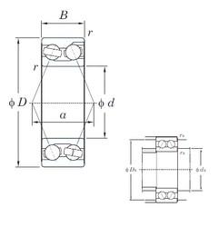 60 mm x 130 mm x 54 mm  KOYO 3312 angular contact ball bearings