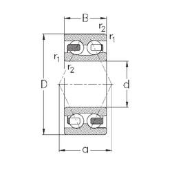 110 mm x 200 mm x 69,8 mm  NKE 3222 angular contact ball bearings