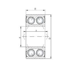 ISO 3312 ZZ angular contact ball bearings