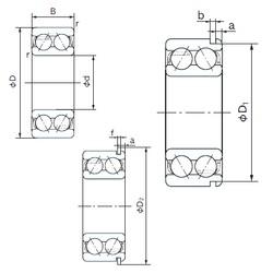 60 mm x 130 mm x 54 mm  NACHI 5312NR angular contact ball bearings