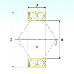 60 mm x 130 mm x 54 mm  CYSD 5312 2RS angular contact ball bearings