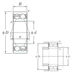 60 mm x 130 mm x 54 mm  KOYO 5312 angular contact ball bearings