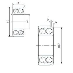 60 mm x 130 mm x 54 mm  NACHI 5312N angular contact ball bearings