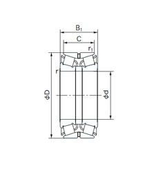 NACHI 440KBE031 tapered roller bearings