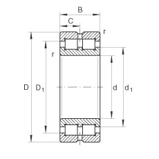 340 mm x 460 mm x 118 mm  INA SL014968 cylindrical roller bearings