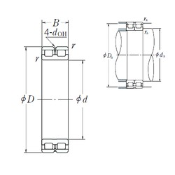 340 mm x 460 mm x 118 mm  NSK RSF-4968E4 cylindrical roller bearings