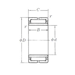340 mm x 460 mm x 118 mm  NSK NA4968 needle roller bearings
