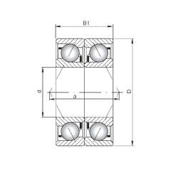 Loyal 7207 A-UO angular contact ball bearings