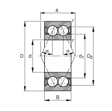 60 mm x 130 mm x 54 mm  FAG 3312-B-2RSR-TVH angular contact ball bearings