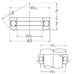 NSK 53412 thrust ball bearings