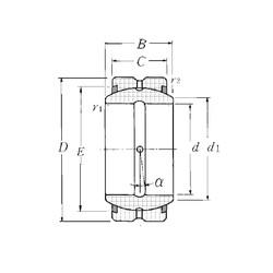 60 mm x 90 mm x 44 mm  NTN SA1-60BSS plain bearings