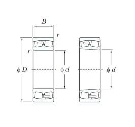 440 mm x 720 mm x 226 mm  KOYO 23188R spherical roller bearings
