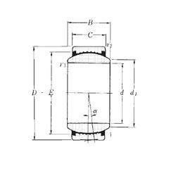 60 mm x 90 mm x 44 mm  NTN SAR1-60 plain bearings
