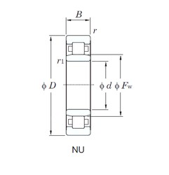 60 mm x 130 mm x 54 mm  KOYO NU3312 cylindrical roller bearings